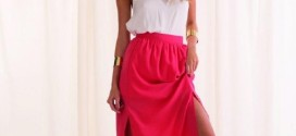 Maxi Skirt with Split for a more Stylish Look