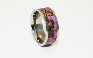 pink camo wedding rings for women