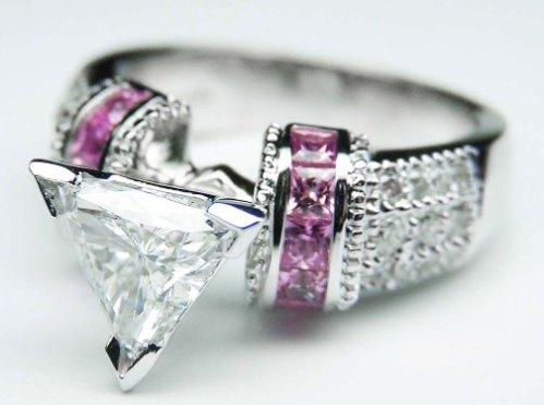 pink diamod engagement rings tacory