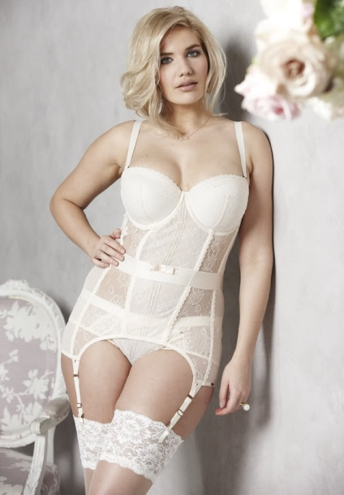 Plus size wedding lingerie modern di candia fashion for What undergarments for wedding dress shopping