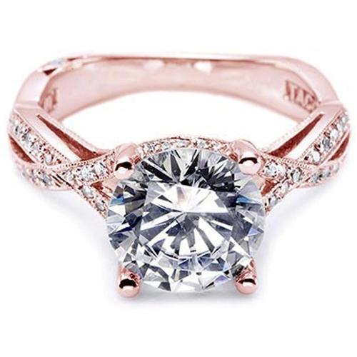 tacori wedding rings rose gold