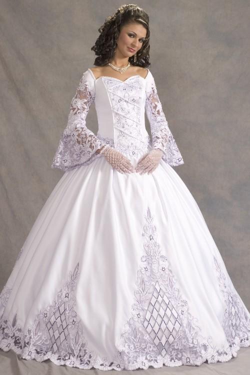 victorian long sleeve wedding dresses