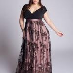 black evening dress plus size
