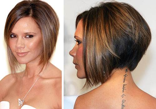 Bob Hairstyle Tapered Back
