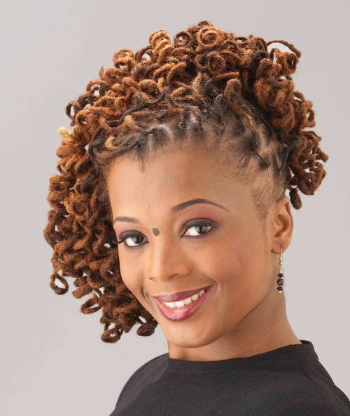 Short Curly Updos For Black Women