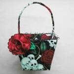 gothic flower girl baskets idea