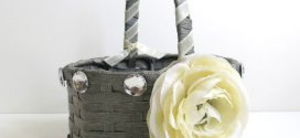 Gray Flower Girl Baskets Decoration