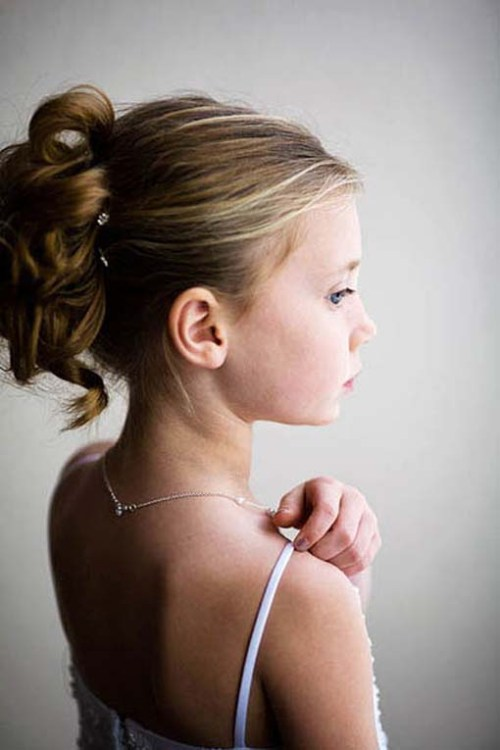 hairstyles for flower girls on weddings - Di Candia Fashion