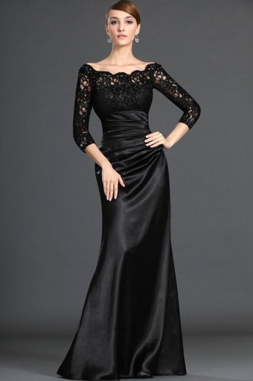 Long Formal Dresses With Sleeves Di Candia Fashion
