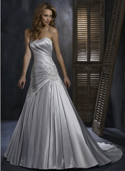 silver wedding dresses for older brides - Di Candia Fashion