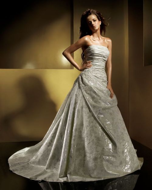 silver wedding dresses uk
