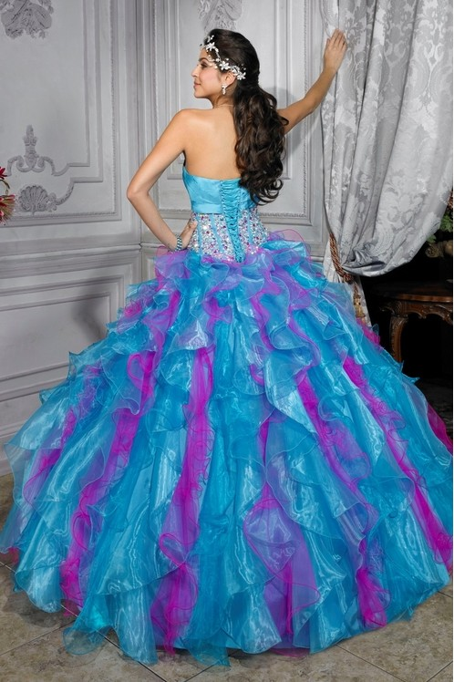 wedding dresses with blue pink and blue bridal dresses picture 9432