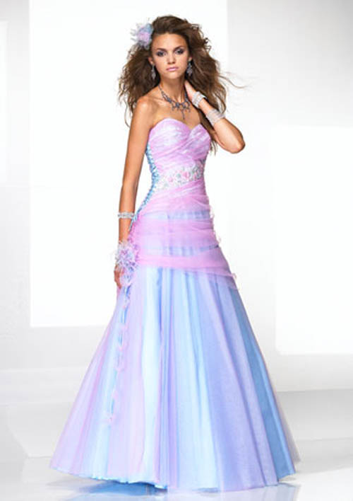 Pink and Blue Dresses
