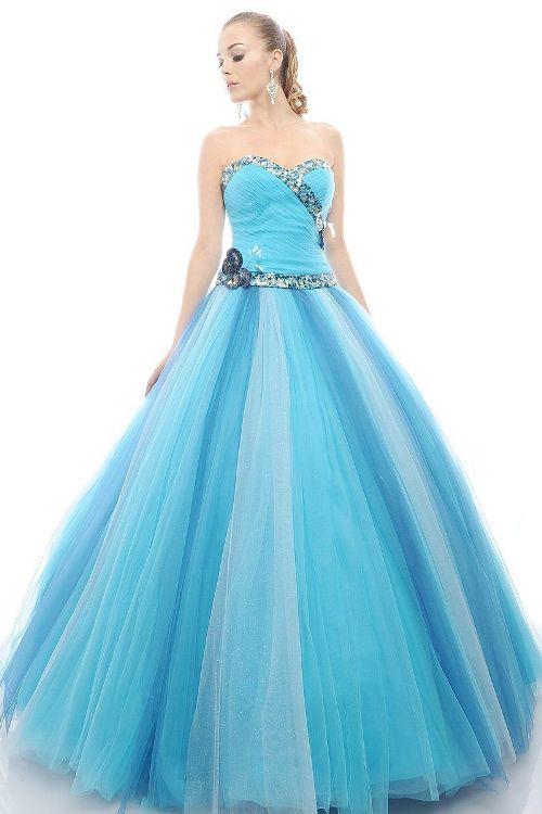 Princess Dresses Soft Blue For Prom