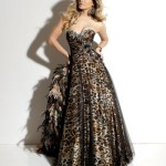black leopard prom dress