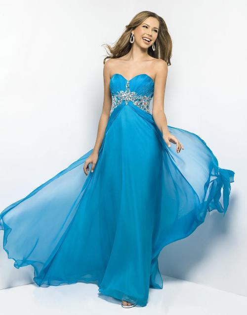 Blue Color Prom Dress