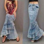 casual long mermaid skirts girls