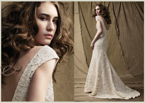 Classic simple lace wedding dress for Simple classic wedding dress