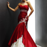 classy red wedding dress 2013