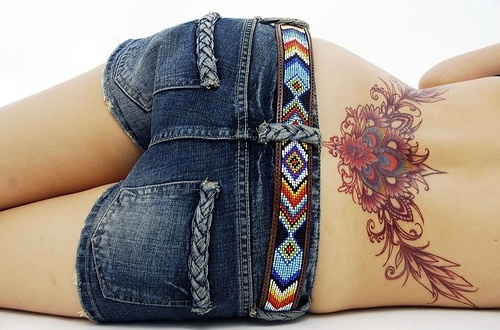 cool lower back tattoos for women