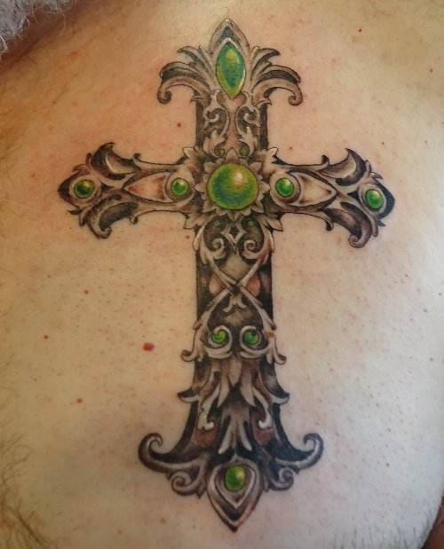 cross tattoo for women