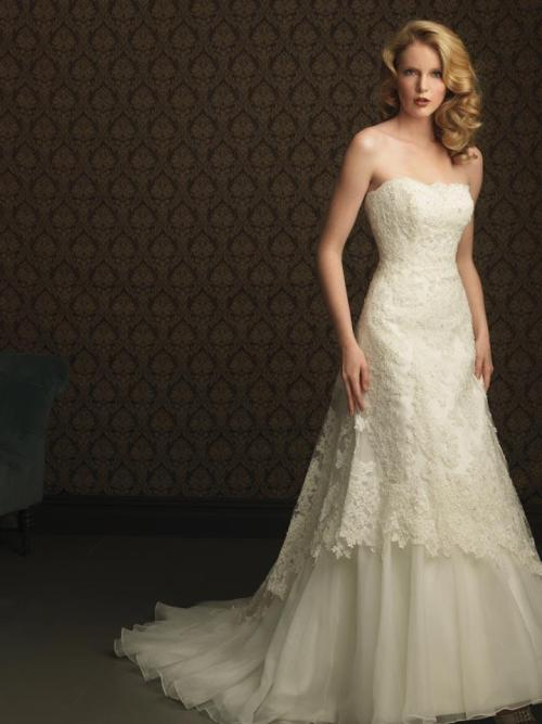 ivory lace wedding dress empire waist