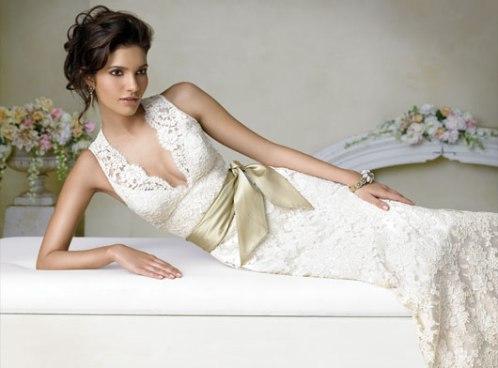 ivory lace wedding dress sash