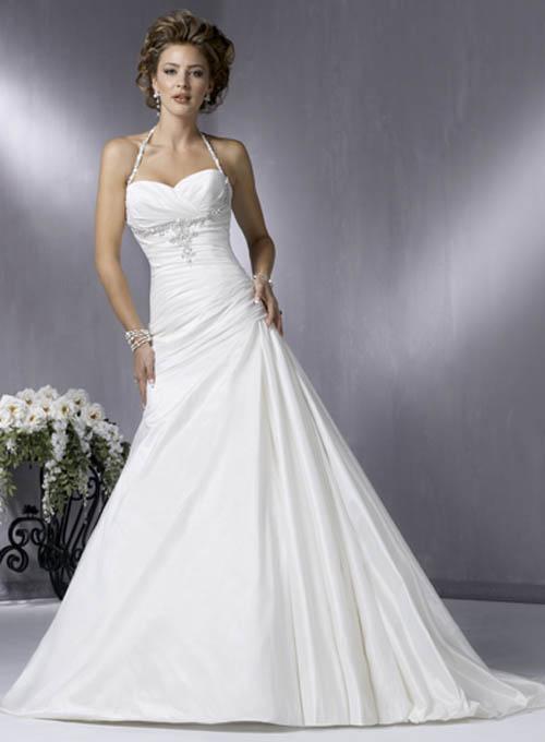 long white simple dress