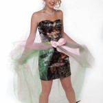 pink camo short prom dresses