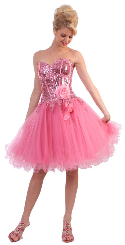 pretty short prom dresses 2012