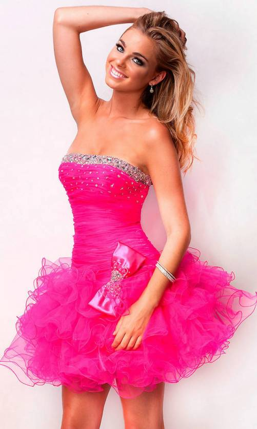 Short Tight Prom Dresses Puffy_Prom Dresses_dressesss