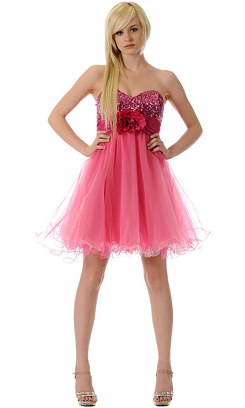 short pink prom dresses uk