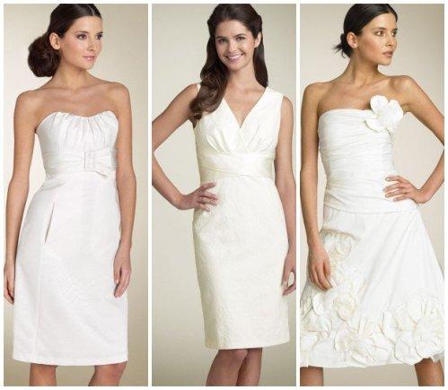 short white simple dress