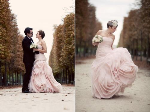vera wang blush organza wedding dress