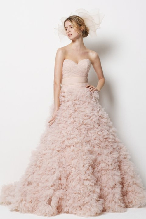 Vera Wang Blush Pink Wedding Dress
