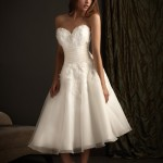 wedding dresses fitted flare