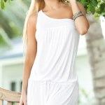 beach wedding dress white or ivory
