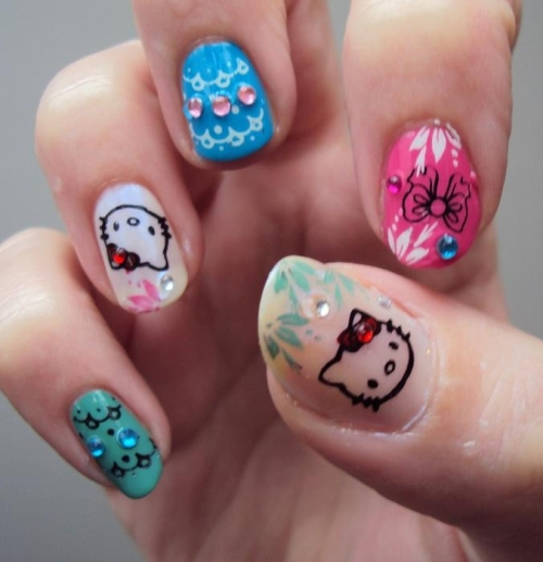 Hello Kitty Nail Designs Tumblr