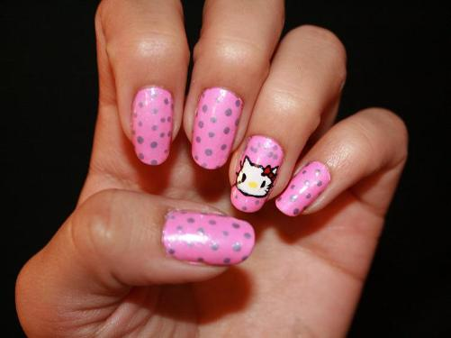 hello kitty nail ideas