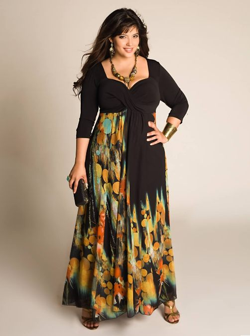 27793ba2f8 plus size maxi dress with sleeves