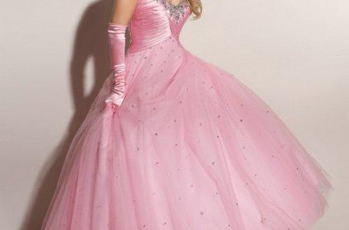 Puffy Pink Prom Dresses Uk