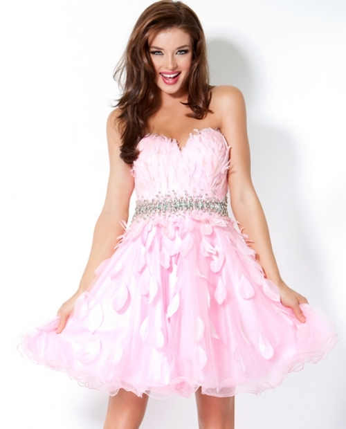 short feather dresses pictures