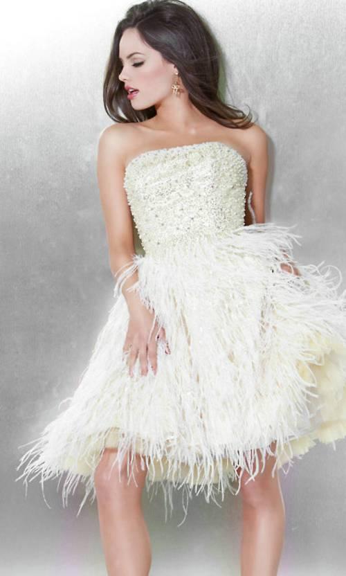 short feather dresses uk