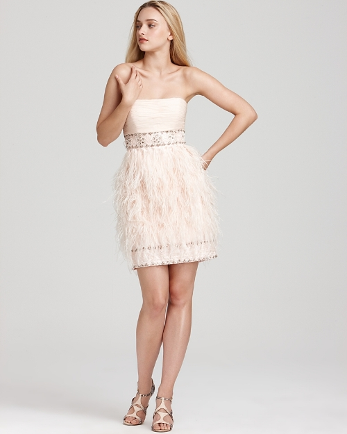 short feather dresses under 100
