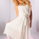 white casual dress for women