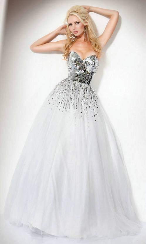 white puffy prom dresses 2013 - Di Candia Fashion