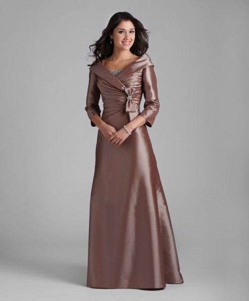 long sleeve reception dresses