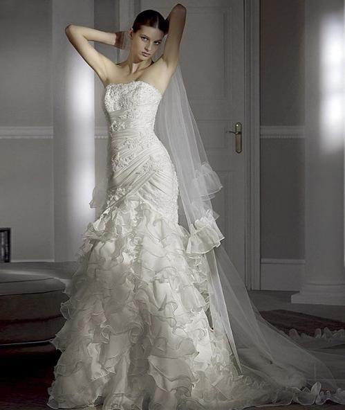 wedding dress modern bride picture