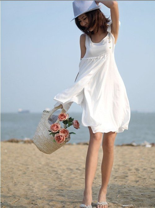 white beach dresses casual 2013