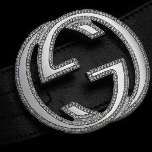 Gucci belt with diamonds Alexander Amosu